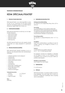 productinfo KEIM Speciaal Fixatief