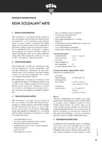 productinfo KEIM Soldalan-Arte