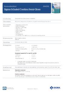 productinfo Sigma Schakel Continu Semi-Gloss