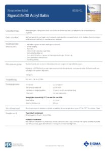 productinfo Sigmalife DS Acryl Satin