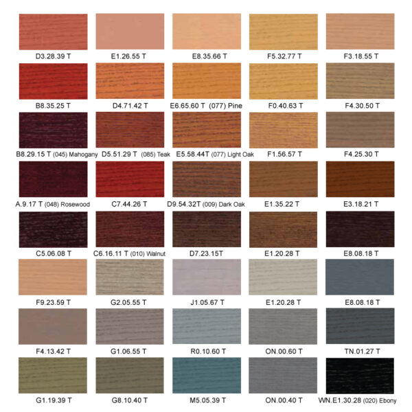 kleurenkaart Sikkens Cetol Design Classic