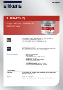 productinfo Sikkens Alphatex IQ