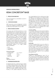 productinfo KEIM Concreton-Base