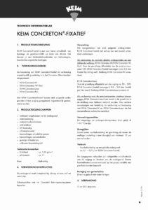 productinfo KEIM Concreton-Fixatief