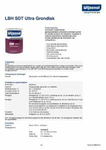 productinfo Wijzonol LBH SDT Ultra Grondlak