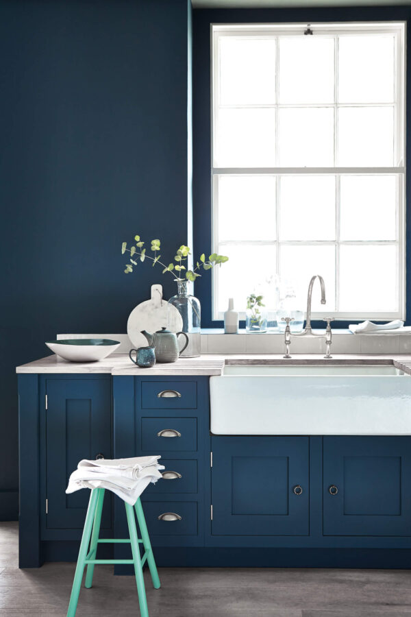 Little Greene Hicks' Blue 208 Kitchen