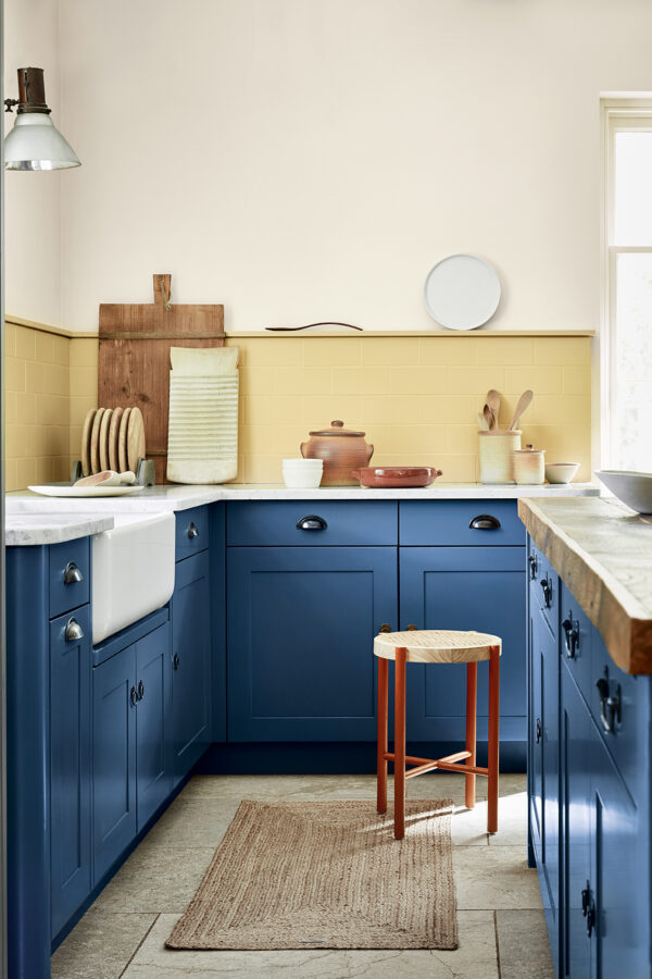 Little Greene Stock 37, Sunlight 135, Woad 251 and Heat 24