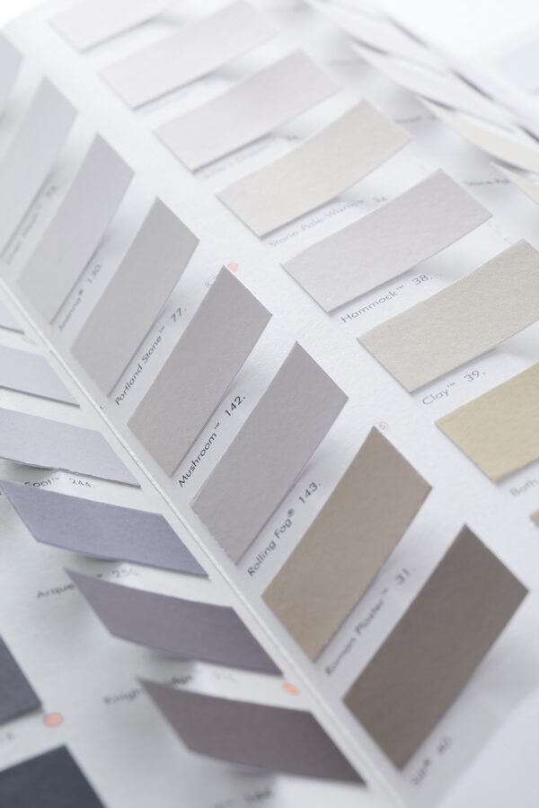 Little Greene kleurenkaart detail pastel