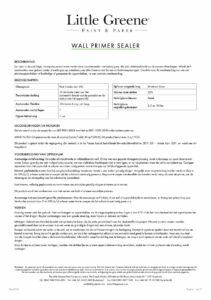 productinfo Little Greene Wall Primer Sealer