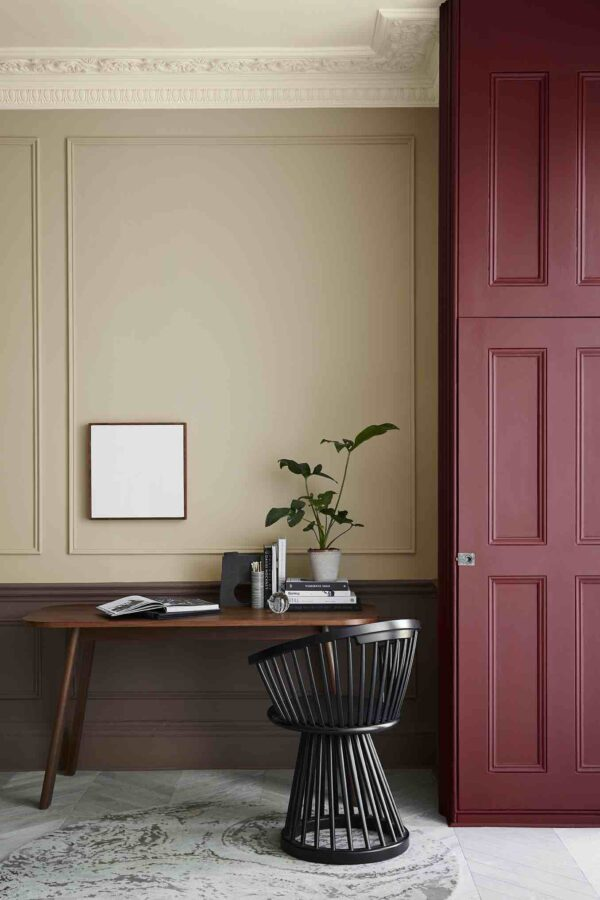 Little Greene Ferdinand 313, Castell Pink 314, Nether Red 315, Arras 316