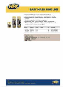 productinfo HPX Easy Mask Fine Line