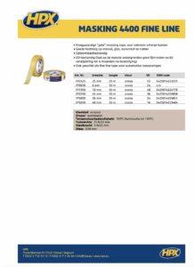 productinfo HPX Masking Tape 4400 Fine Line - Oranje