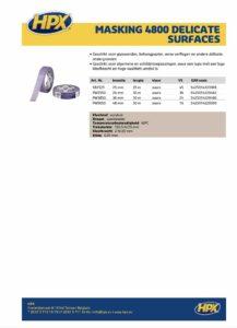HPX Masking Tape type 4800 Paars