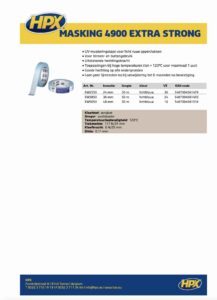 productinfo HPX Masking Tape type 4900 Extra Strong