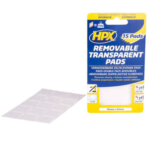 HPX Removable Transparent Pads HT2525