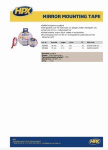 productinfo HPX Dubbelzijdige bevestigingstape