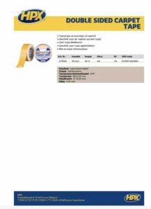 productinfo HPX Dubbelzijdige taptijttape