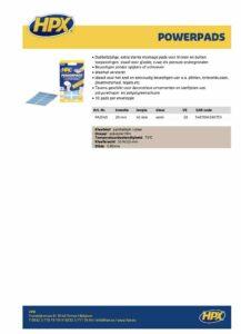 productinfo HPX Powerpads