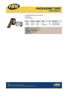 productinfo HPX Verpakkingstape