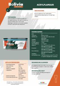 productinfo Bolivia Acrylplamuur