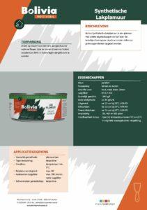 productinfo Bolivia Synthetische Lakplamuur