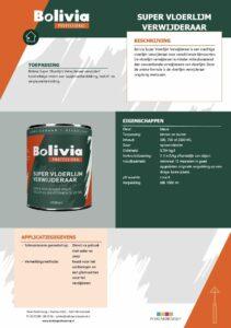productinfo Bolivia Super Vloerlijm Verwijderaar