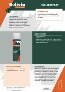 productinfo Bolivia Isoleerspray