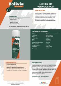 productinfo Bolivia Lijm en Kit Verwijderaar