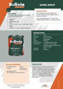 productinfo Bolivia Super Afbijt