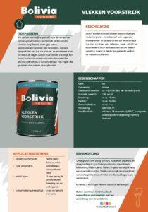 productinfo Bolivia Vlekken Voorstrijk