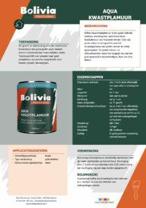 productinfo Bolivia Aqua Kwastplamuur