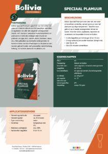 productinfo Bolivia Speciaal Plamuur