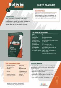 productinfo Bolivia Super Plamuur