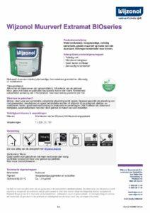 productinfo Wijzonol Muurverf Extramat BIOseries